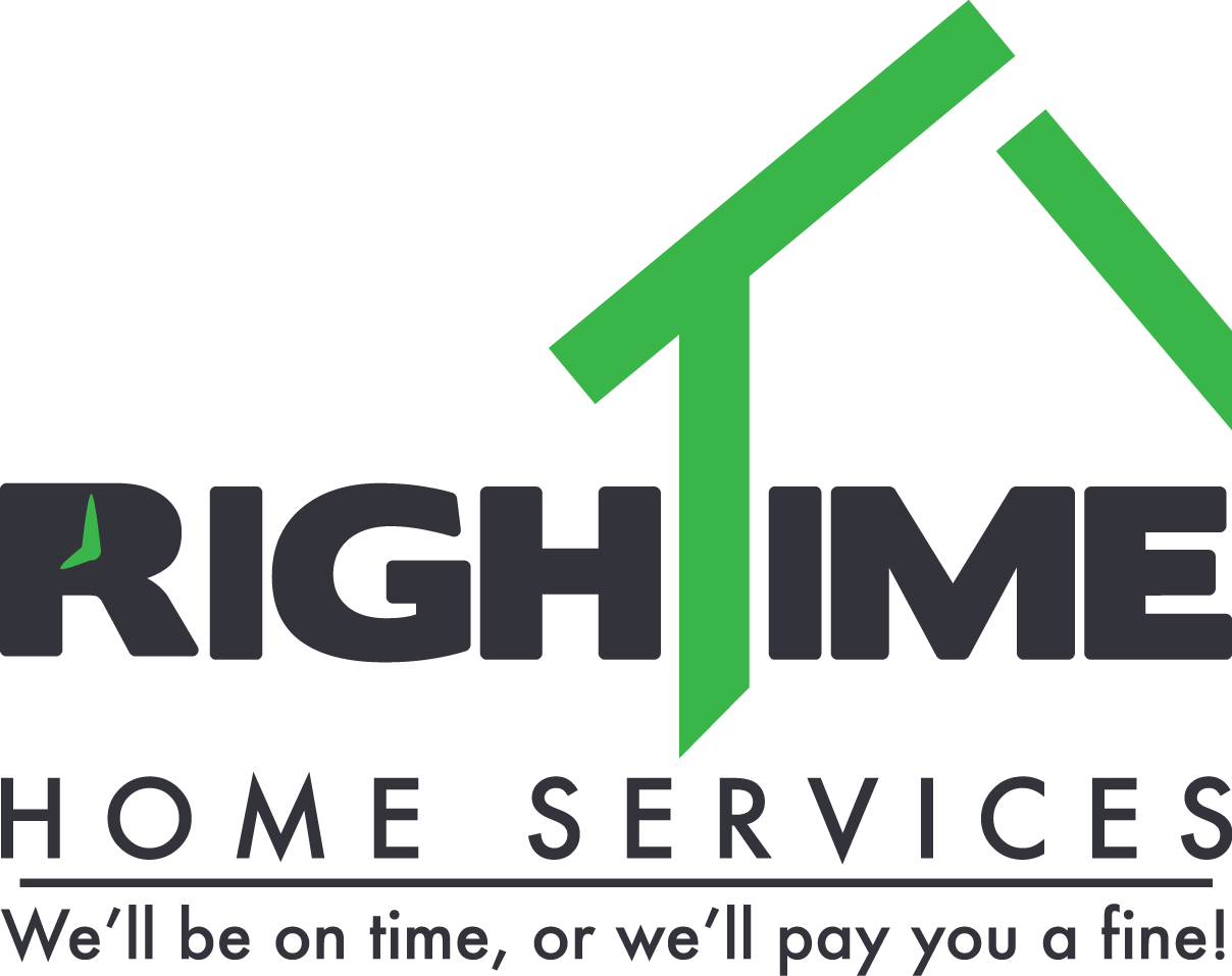 green and black Right Time Home Services company logo