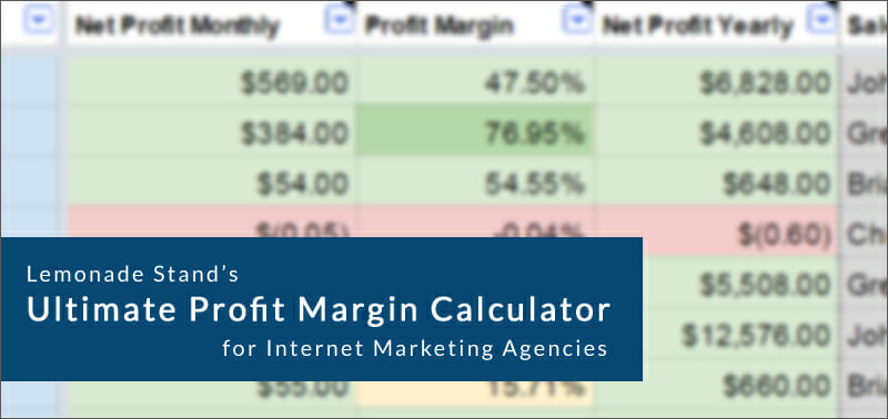 Ultimate Profit Calculator for Internet Marketing Agencies by Lemonade Stand