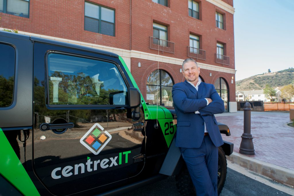 CentrexIT Car with Dylan Natter -CEO in front