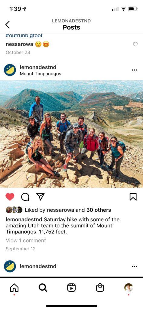 Lemonade Stand Instagram Post
