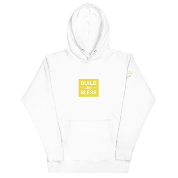 Build Then Bless Carbon White Hoodie