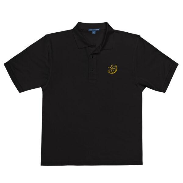 Men's Black Lemonade Stand Icon Polo
