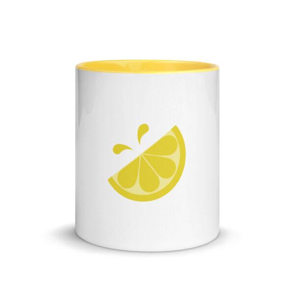 Lemonade Stand Icon Yellow on White Background Mug