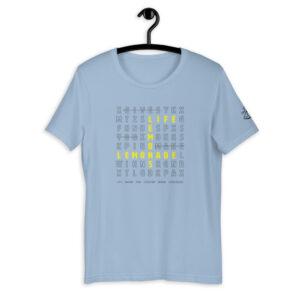 Life Lemons Lemonade Light Blue Shirt