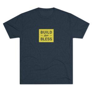 Men's Build Then Bless Navy Shirt