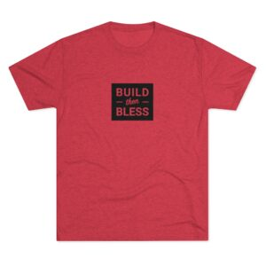 Men's Build Then Bless Red Shirt